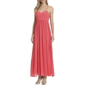 Belle Badgely Mischka Chiffon Maxi Dress